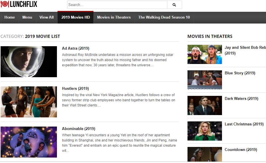 Lunchflix alternative Movies123