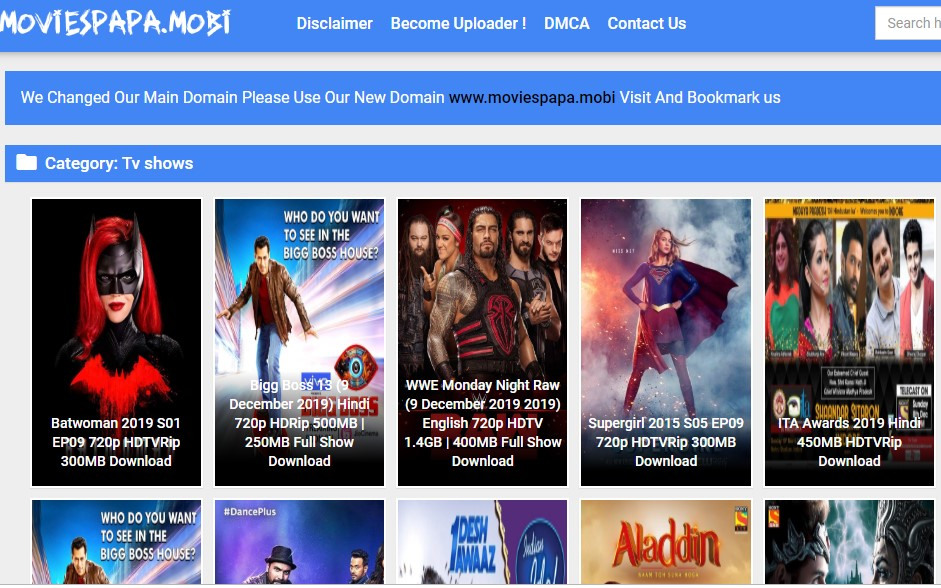 Moviespapa is one of the best way to download TV shows like projectfreetv