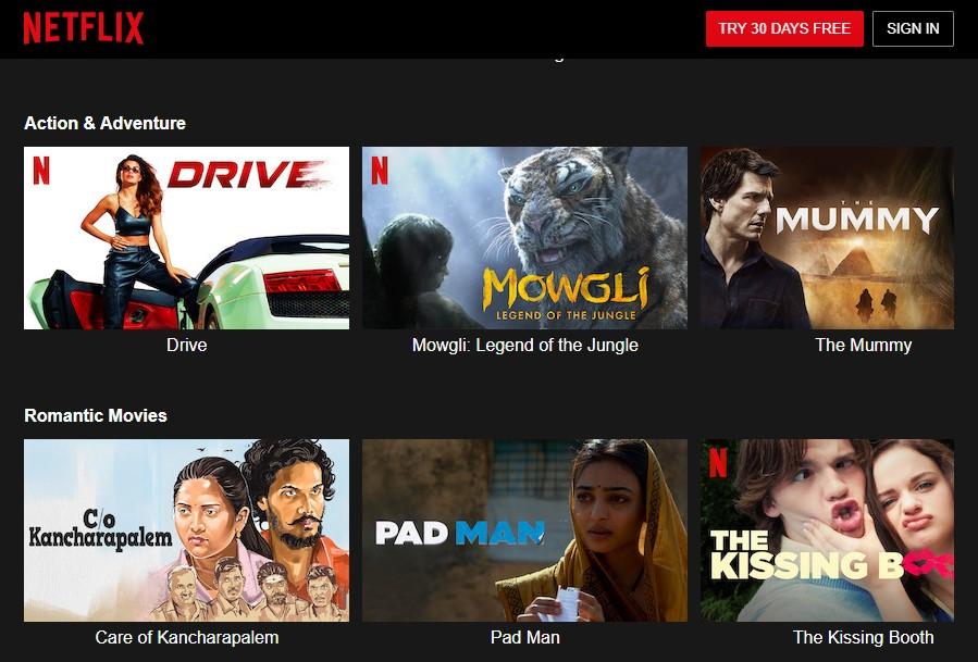 Netflix free movie streaming site like Fmovies