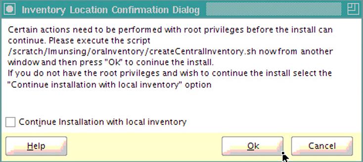 Inventory location permission