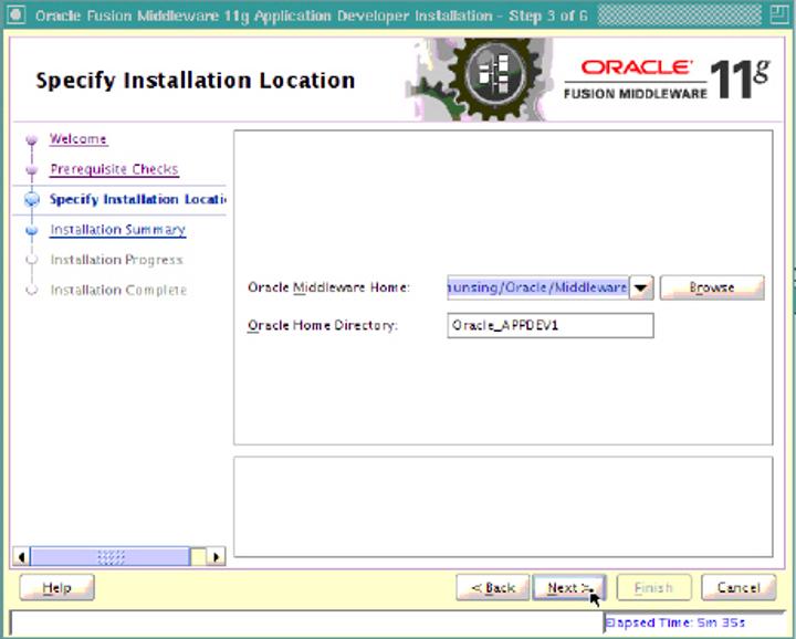 Specific installation location